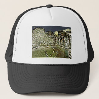 Winged Statute Bath England Art snap-11895a jGibne Trucker Hat