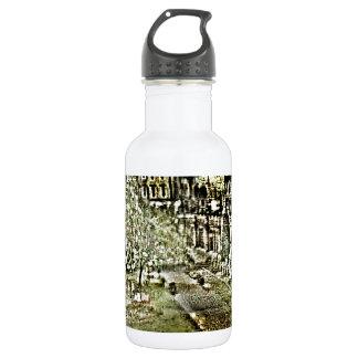 Winged Statute Bath England Art snap-11895a jGibne Water Bottle
