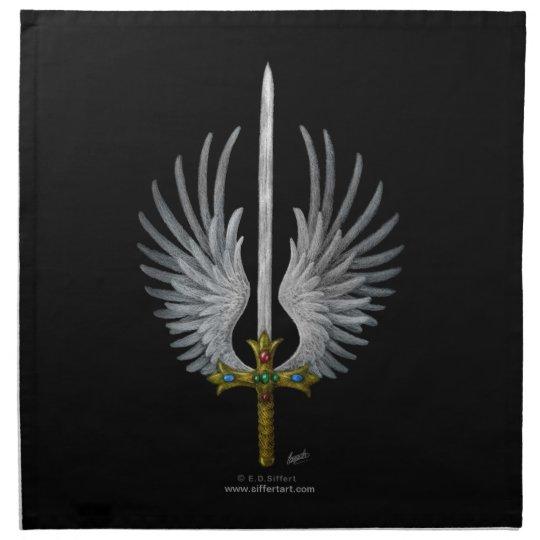 Winged Sword Cloth Napkin