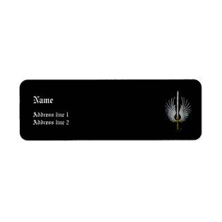 Winged Sword Label