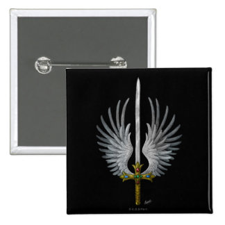 Winged Sword Pinback Button