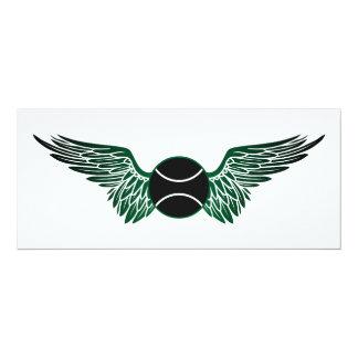 winged tennis ball card