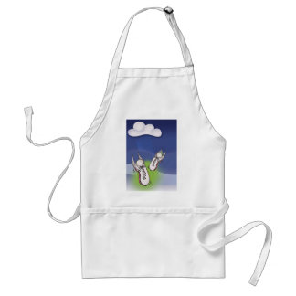 Winged Tennis Shoes Adult Apron