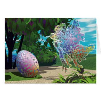 Winged Things - Easter Egg Hunt (message) Greeting Card
