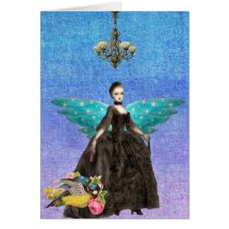Winged Things Gothic Digital ARt Card