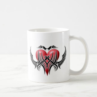Winged Tribal Heart-Coffee Mug