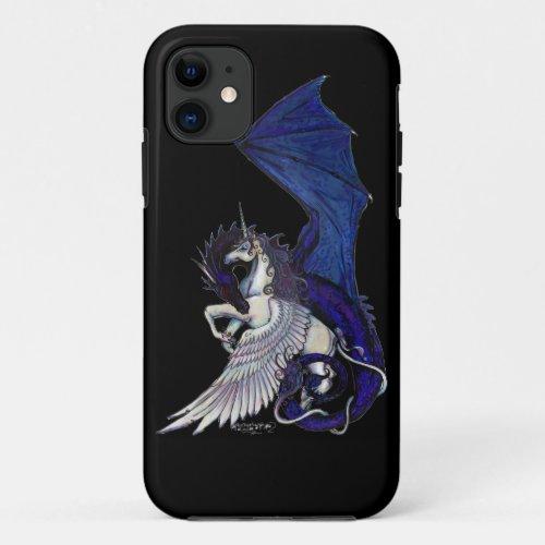 WINGED unicorn and Dragon Phone Case