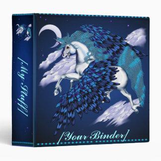 Winged Unicorn  binder_15_front.v4 3 Ring Binder