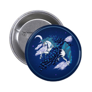 Winged Unicorn -Buttons Button