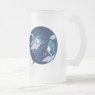 Winged Unicorn Circle Mugs