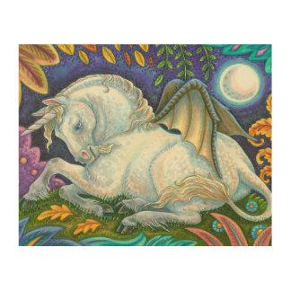 Winged Unicorn Flying Horse Fantasy WOOD WALL ART