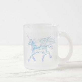 Winged Unicorn Frosted Mug