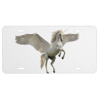 Winged Unicorn License Plate