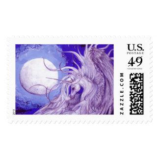 Winged Unicorn Moon Stamp