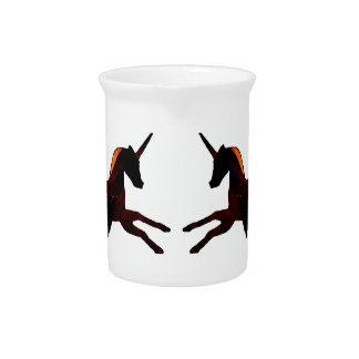 Winged Unicorn Pegasus Flying Horse Mystical Beverage Pitchers
