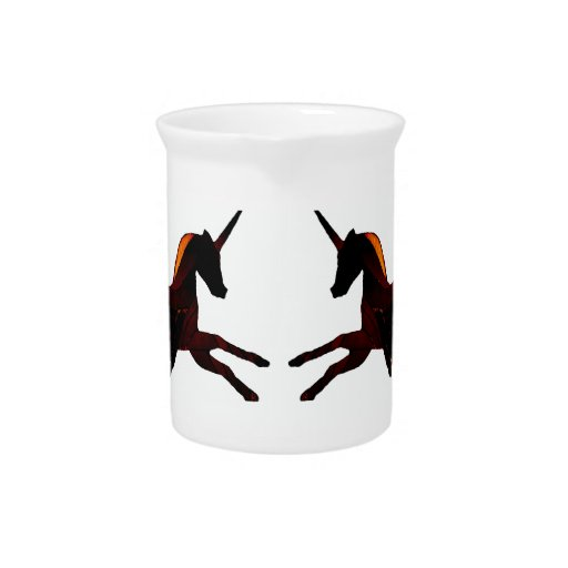 Winged Unicorn Pegasus Flying Horse Mystical Drink Pitcher