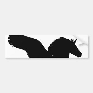 Winged Unicorn Silhouette Car Bumper Sticker