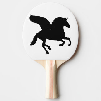 Winged Unicorn Silhouette Ping-Pong Paddle
