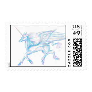 Winged Unicorn Stamp