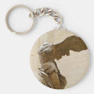 Winged Victory of Samothrace Basic Round Button Keychain