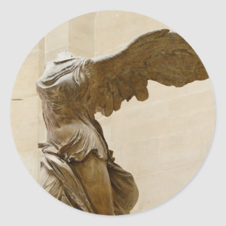 Winged Victory of Samothrace Classic Round Sticker