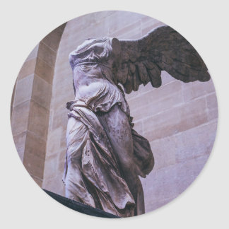 Winged Victory Of Samothrace, Louvre, Paris Classic Round Sticker