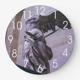 Winged Victory Of Samothrace, Louvre, Paris Large Clock