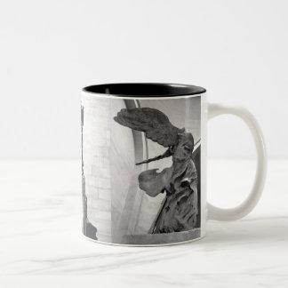 Winged Victory of Samothrace Nike Greek Sculpture  Two-Tone Coffee Mug