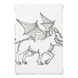 Winged Wild Boar Doodle Art Case For The iPad Mini