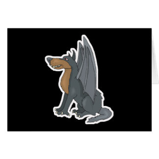 winged wolf card