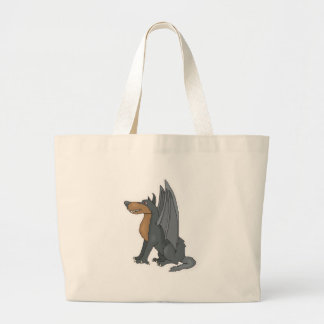 winged wolf large tote bag