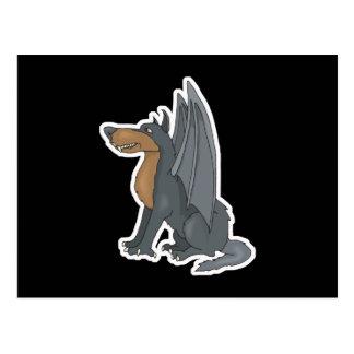 winged wolf postcard