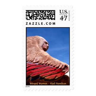 Winged Woman (1)/Postage Stamp