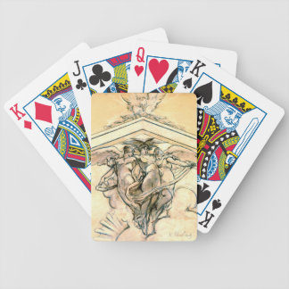 Winged Women Mural Study 1898 Bicycle Card Deck