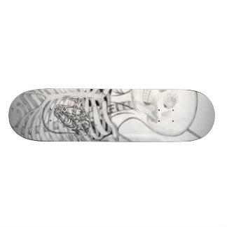wingedSkeleton, corazón Tabla De Skate