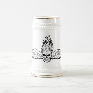 wingedskull-vector beer stein