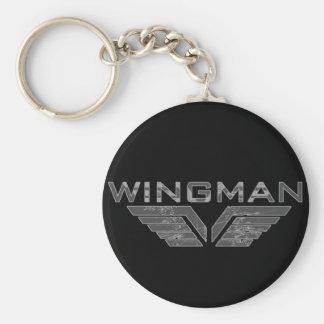 Wingman Basic Round Button Keychain