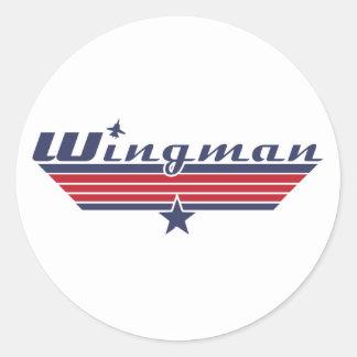 Wingman Classic Round Sticker