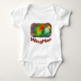 Wingman cute birds baby bodysuit