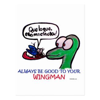 Wingman de Durante Mamichula Postal