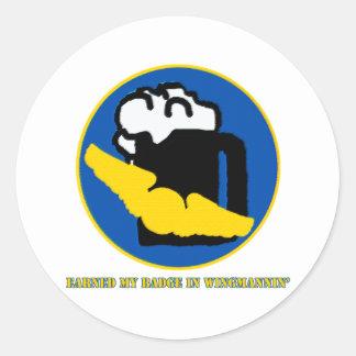 Wingman Merit Badge Classic Round Sticker