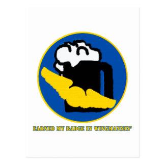 Wingman Merit Badge Postcard