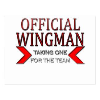 WingMan oficial que toma uno para el rojo del equi Postales