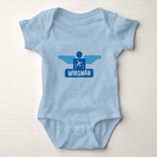 wingman pilot design baby bodysuit