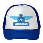 wingman pilot design mesh hats