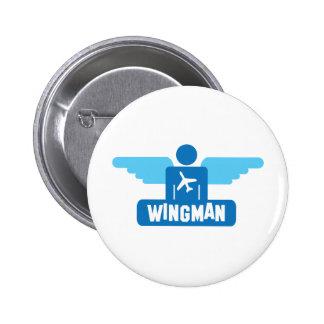 wingman pilot design pinback buttons
