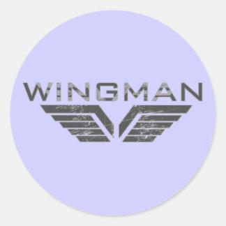 Wingman Round Stickers