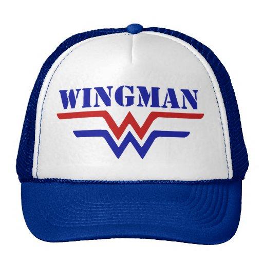 Wingman Single guy party Mesh Hats