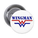 Wingman Single guy party Pinback Button