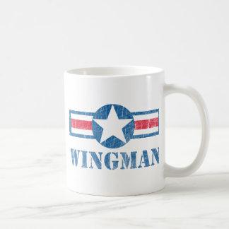 Wingman Vintage Classic White Coffee Mug